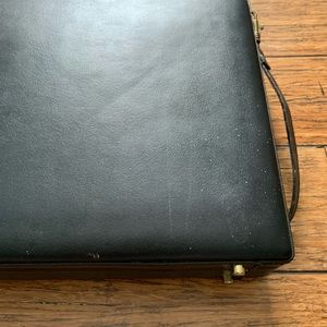 Accessories - Black Briefcase With Gold Hardware